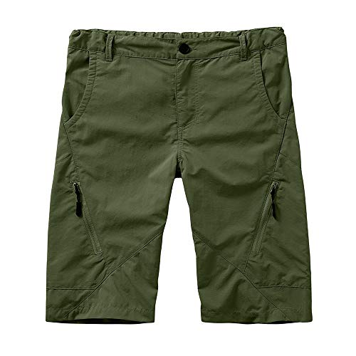 Boys Kids Cargo Shorts Youth Boy's Girl's Casual Stretch Shorts Outdoor Cargo Bottoms,Hiking Camping UPF 50+ Quick Dry,Army Green,XL(16-18 Years)
