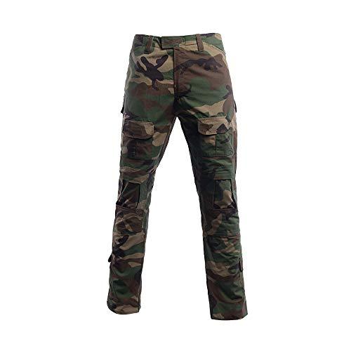 Herren Airsoft Hose Multicam Tactical Military Camo Hunting Combat Cargo Uniformhose, Jungle Camo, L