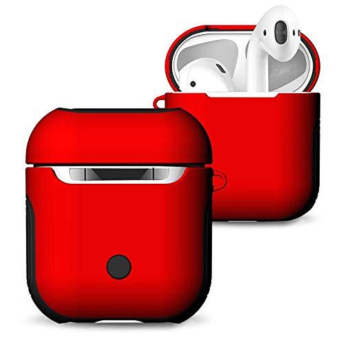 Funda protectora para AirPods Compatible con la caja de la bolsa de aire de silicona suave cubierta impermeable for la bolsa de aire 2 y 1 a prueba de choques caja libre de polvo cubierta-01 Funda pro