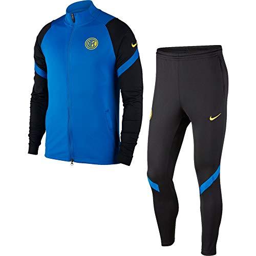 Nike INTER M NK DRY STRK TRK SUIT K, Tuta Uomo, blue spark/Black/Blue spark/(tour yellow) (no sponsor-plyr), M