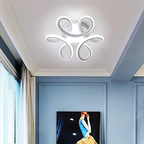 Comely Plafoniera LED, Plafoniera LED Soffitto, 30W 2500lm Dia 26cm Moderna Lampada da Soffitto per Corridoio Balcone Soggiorno Cucina Bagno Camera da Letto, Bianca Fredda 6000K