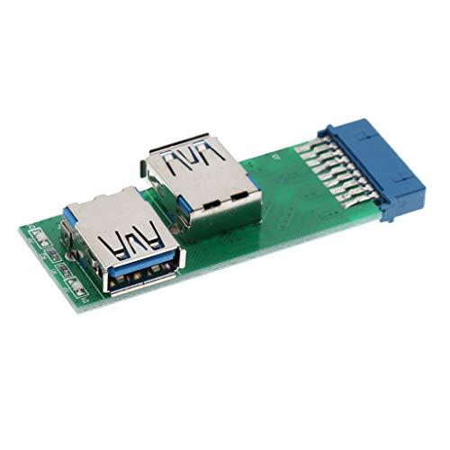 ShiSyan Puertos USB 3.0 Consejo de Mujer de la Placa Base de 20 Pines Adaptador convertidor de cabecera for 2X
