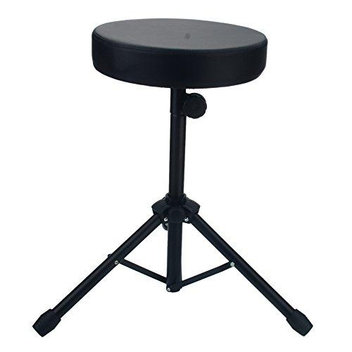 Kuyal Drum Throne Folding Percussion Drum Stool with Anti-Slip Feet-Black(Drum Seat)