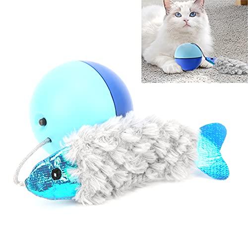 xiji Katzenspielzeugbälle, selbstdrehender Rollball Interaktiver Katzenspielzeugball für Indoor-Katzen