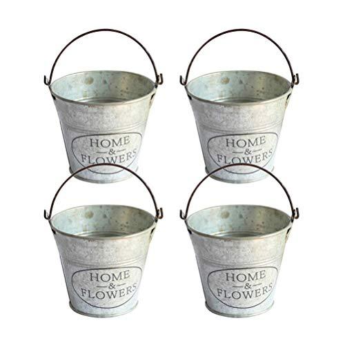 4 Unids Vintage Metal Hierro Colgante Maceta, Portátil Cubo Hierro Flor Titular el hogar decoración jardín al Aire Libre