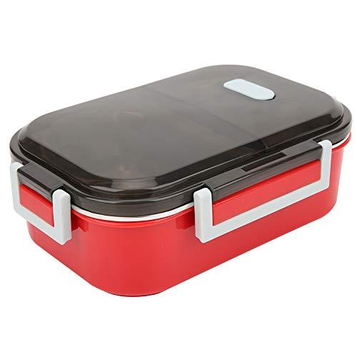 Fiambrera Envase de comida Anillos de sellado de silicona Mango portátil 700ml para picnic en el hospital(red)