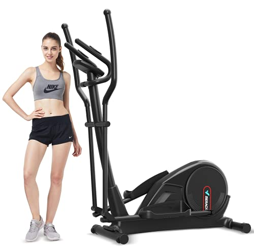Merach Elliptical Machine Trainer Electric Magnetic Resistence Smooth Quiet Driven Exercise Machine for Home Fitness Cardio Training Workout with LCD Monitor