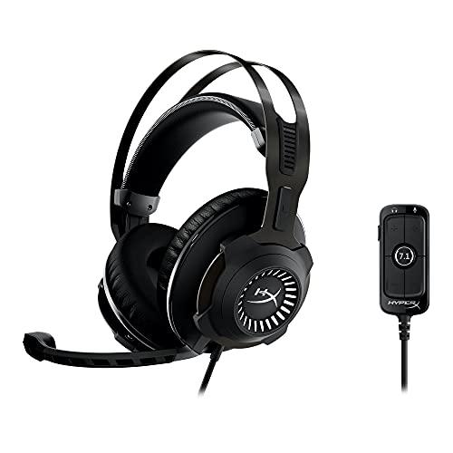 HyperX Cloud Revolver + 7.1 ゲーミングヘッドセット 7.1ch PS4 PS5 PC 低反発クッション 受賞歴のある快適さ 3.5mm 頑丈なスチールフレーム TeamSpeak Discord認証 USBオーディオコントロールボックス付属 HHSR1-AH-GM/G