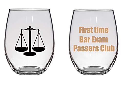 First Time Bar Exam Passers Club Copa de vino grande, abogado, abogado, regalo de grado de la escuela de derecho, 11 onzas