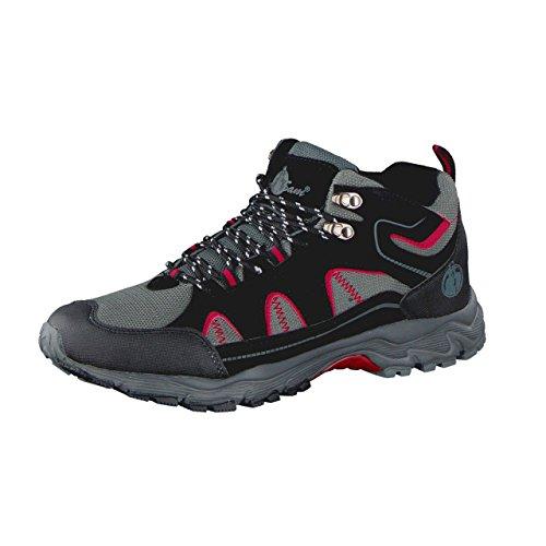 Uncle Sam Herren Outdoor Boots in Schwarz/Grau/Rot, Größe:42;Farbe:schwarz