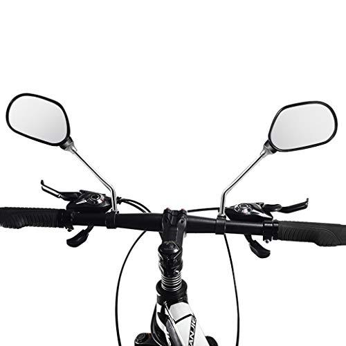 Tengma 1 Pair Adjustable Bike Mirror for MTB Bike Road Bike,Bicycle Handlebar Mirror Bicycle Bike Rearview Wide Range Back Sight,Perfect for Electric Bikes,Mountain Bikes Universal Rotatable