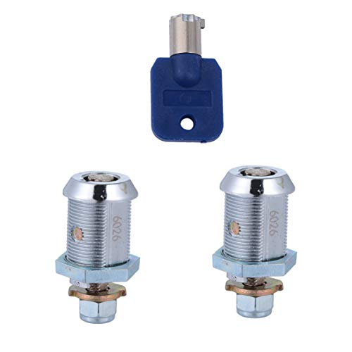 TOPBATHY 2 cerraduras de leva tubular, duraderas de 17 mm, cerradura de átomo, cajón, arcade, caja de herramientas