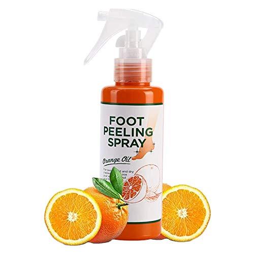 YCSD Foot Peeling Spray Natural Orange Essence,1PCS Foot Peeling Spray That Remove Dead Skin, Pedicure Hands Dead Skin