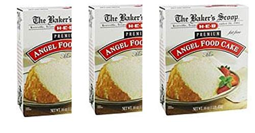 H‑E‑B Baker's Scoop Premium Fat Free Angel Food Cake Mix(pack of 3)