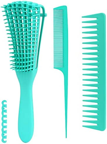 Detangling Brush Set for America 3a to 4c Kinky Wavy Curly Coily Wet Dry Oil Thick Long Hair product image