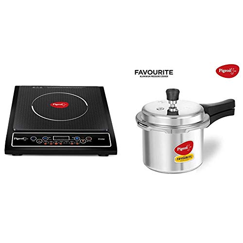 Pigeon by Stovekraft Cruise 1800-Watt Induction Cooktop (Black) & Favourite Outer Lid...