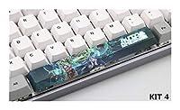 PCアクセサリ PBTファイブ脇色素を下塗りスペースバー6.25Uプロフィールキーキャップのための機械的なキーボードのキーキャップ キーボードカバー (Color : KIT 4)