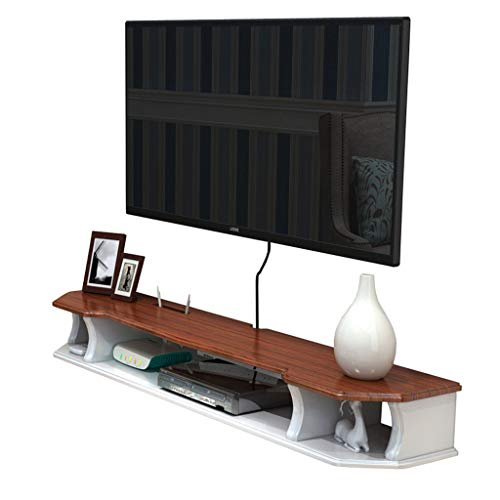 LSLS Estante de Pared de Pared Colgando gabinete de TV/Estante de Madera Maciza TV Caja de TV Estante estantería de Pared (Size : 110cm)