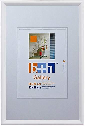 Becker & Hach Bilderrahmen 20 x 30 weiß Kunststoff Echt-Glas Hoch-Quer Format Portrait-Rahmen Foto
