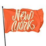 Not Applicable Bandera de jardín, Naranja Banderas de jardín de Nueva York Bandera Decorativa Suave 90x150cm