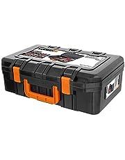 Worx WA0071 Gereedschapskoffer Van Robuuste Kunststof, Voor Het Veilig Opbergen Van Alle Gereedschappen En Accessoires, Koffer Zonder Gereedschap, Zwart