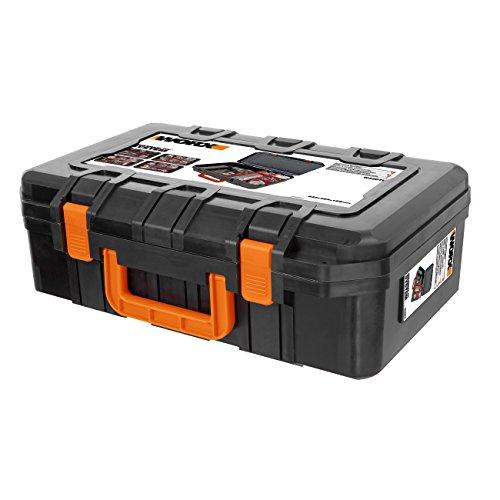 Worx WA0071 Werkzeugkoffer aus robustem Kunststoff - für Das sichere Verstauen aller Werkzeuge und Zubehör – Koffer ohne Werkzeug
