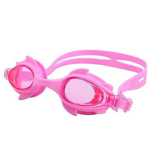 MHP Waterdichte en anti-condens-kinderzwembrillen schattige cartoonbril kinderen mannen en vrouwen zwembril roze