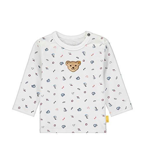 Steiff Langarm T-Shirt À Manches Longues, Blanc (Bright White 1000), 62 (Taille Fabricant: 062) Bébé garçon