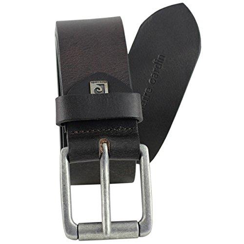 Pierre Cardin Mens leather belt/Mens belt, dark brown, 70092, Size:115