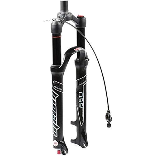LIMQ 26 27.5 Horquilla De Suspensión De Bicicleta Neumática De 29 Pulgadas MTB Rebote Ajustar Recorrido QR 120 Mm Bloqueo Ultraligero Gas Shock XC Bike Negro,StraightRemote-29inch