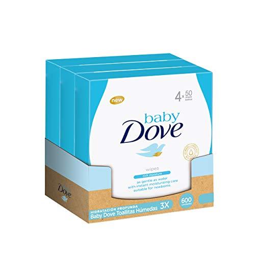 Baby Dove Toallitas Húmedas Hidratación Profunda 50uds x4 - Pack de 3