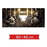 DMWSD Mouse Pad Table Mat Tom Clancy's Rainbow Six Siege National Match National Counter-Strike National Logo Oversized Seam Slip Professional Gaming Mouse Pad Desk Laptop PC