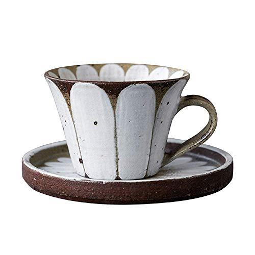 Taza de café y platillo Cerámica Cerámica Alta Temperatura Capuchino Taza de café 280 ml Capacidad Inicio Oficina Latte Caramel Macchiato Latte Café Taza Para Horno Microondas Lavavajillas lucar