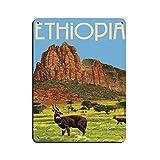 Äthiopien Vintage City Reise Poster Retro Poster Metall