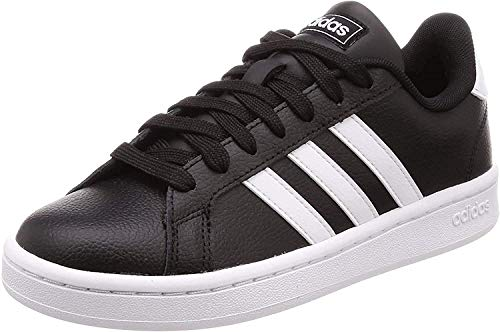 adidas Mens Grand Court Sneaker, Core Black/Cloud White/Cloud White, 44 EU