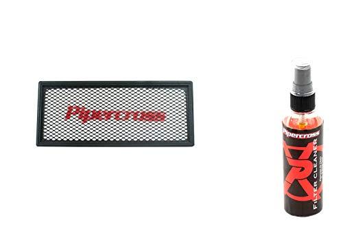 Pipercross Filtro de aire + limpiador compatible con VW Touran 1T 1.9 TDi 90/100/105 PS 03/03-06/10