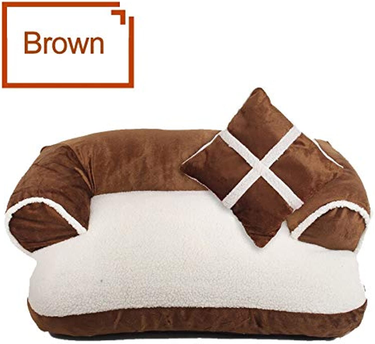 Aigou Dog Bed Soft DoubleCushion Dog Bed Lounger Sofa Warming Puppy House For Dogs Cat Nest Sleeping Mats Pet Bedding Kennels Pet Supplies