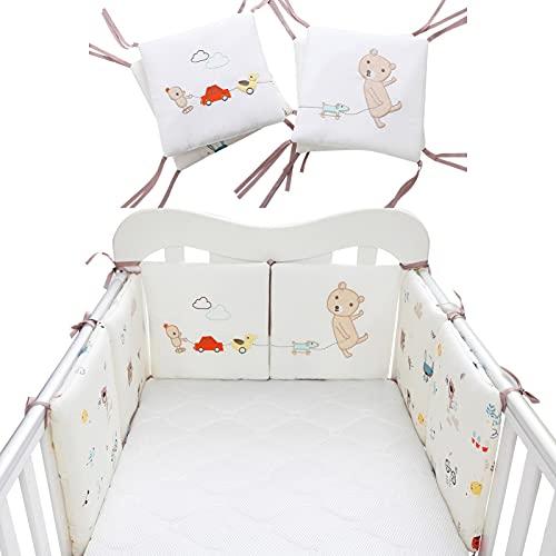 Ganmek Baby Cuna Parachoques Patrón De Búho Cubierta De Riel De Cuna De Bebé Cojín Interior Cuna De Envoltura Segura Protector De La Protección De La Cama Liner AntiParachoques Useful