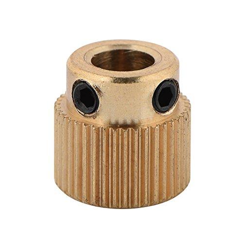 VBESTLIFE Extruder Rad,Hohe Qualität Messing Antriebsrad 3D Drucker Zubehör für Extruder MK7 MK8 26/40 Zähne, 10 stücke (40 Zähne)