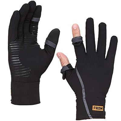FRDM Convertible Liner Gloves- Lightweight Touchscreen Running Hiking Photography Outdoor Recreation, Men & Women