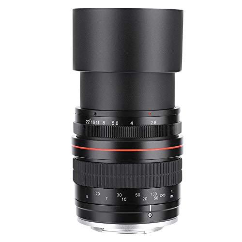 EBTOOLS 135mm F2.8 DSLR Full-Frame Teleobjetivo Gran Apertura Manual Lente de Enfoque Fijo(para Nikon F)