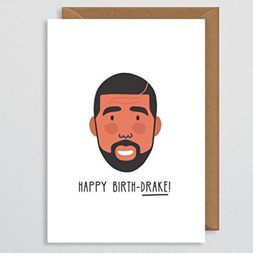 Grappige Pun Verjaardagskaart voor haar - Drake Verjaardagskaart - Gelukkige Verjaardagskaart - Beroemdheid Verjaardagskaart - Rap Card - Hip-Hop Muziekkaart - voor haar - Verjaardagskaart Grappig - Vriendin