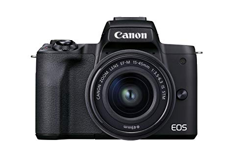 Canon EOS M50 Mark II Kamera + Objektiv EF-M 15-45mm F3.5-6.3 is STM (24,1 MP, 7,5 cm Touchscreen LCD, WLAN, HDMI, Bluetooth, Dual Pixel CMOS AF System,...