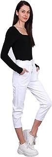 Crazy Age Damskie spodnie dżinsowe Mom z gumowym paskiem, luźne, szerokie