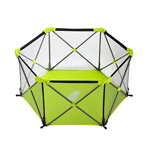 Fantastic Deal! Baby playpen Baby Play Fence, Hexagonal Child Fence Breathable Waterproof Mesh Easy ...