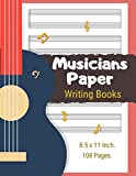 Musicians Paper Writing Books: The Ideal Gift Favorite Compo