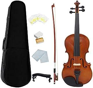 DZSW 1/4 Violino Naturale Acustico Legno Solido Abete Fiamma Acero Violino Violino Violino Con Caso Colofonia Arco Stringh...