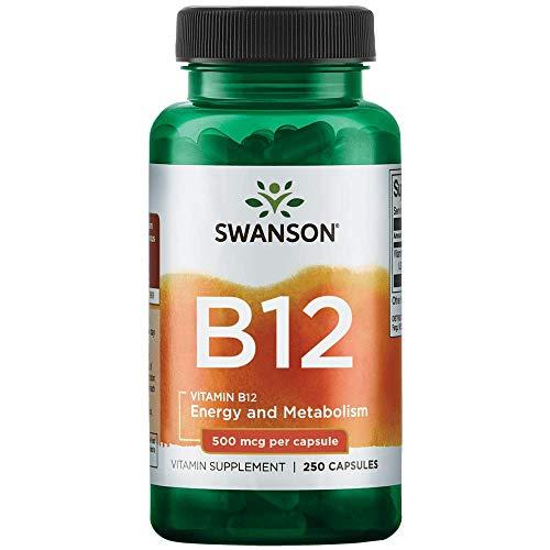 Vitamina B-12 500mcg Swanson 250 Cápsulas