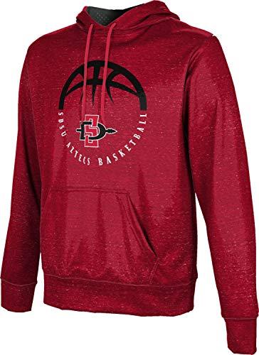 San Diego State University Basketball Men's Pullover Hoodie, School Spirit Sweatshirt (Heather) 77559C8D