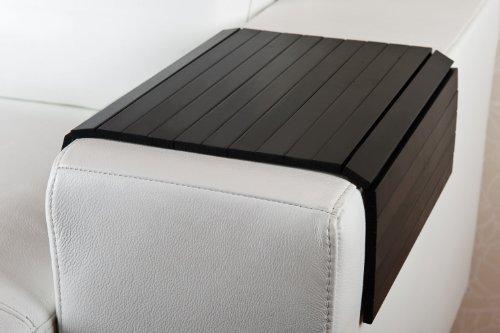 moebelhome Sofatablett ~ Armlehnen Ablage Tablett SCHWARZ ~ Armlehnenschoner Massiv-Holz NEU